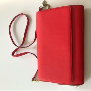 H&M Bright Red Clutch/Crossbody Bag - NWT